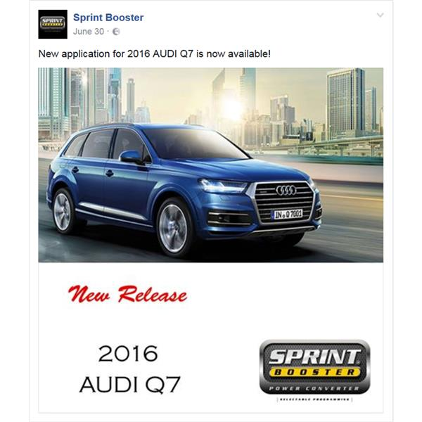 New application for 2016 AUDI Q7 is now available!