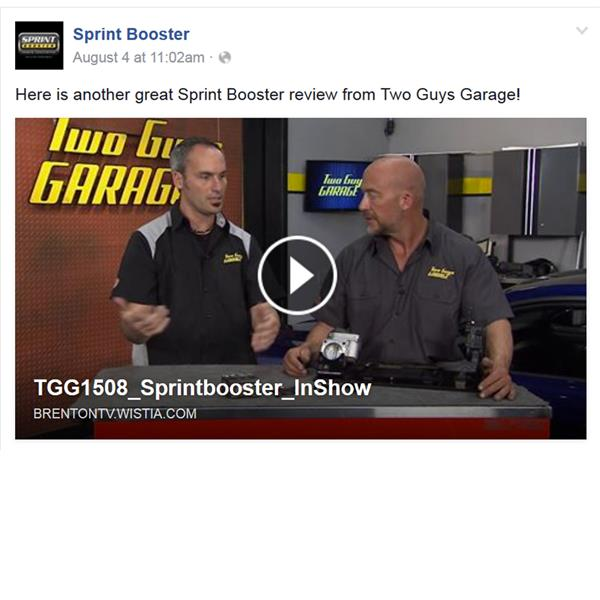 Here is another great Sprint Booster review from Two Guys Garage!
